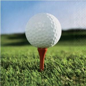 """5"""" Square Golf Ball Beverage Napkin"""