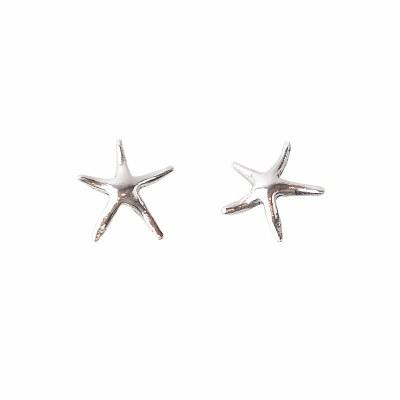 Silver Tiny Starfish Stud Earrings
