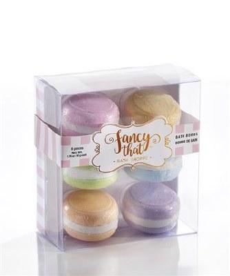 Box of 6 Macaron Bath Bombs
