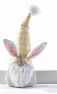 """10"""" Gnome With Yellow Hat and Bunny Ears"""