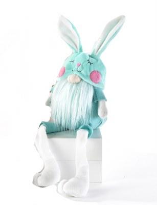 """14"""" Aqua Gnome Bunny Hat"""