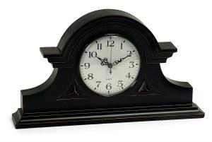 "8.5"" Black Mantle Clock"