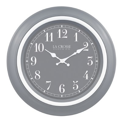 """18"""" Round Gray and White Clock"""