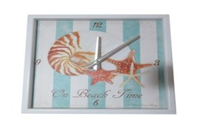 """12"""" Square On Beach Time Clock"""