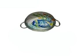 "16"" Round Sealife Metal Tray"