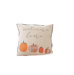 "16"" Square Welcome Pumpkin Pillow"