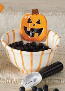 "4"" Jack O Lantern Dish With Scoop"