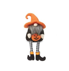 "9"" Halloween Gnome With Jack O Lantern"