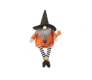 """9"""" Halloween Gnome With Wand"""