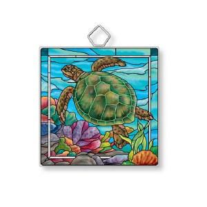 """4"""" Small Square Under The Sea Suncatcher"""