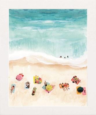 "27"" x 21"" Textured Aerial Beach Scene 2 Framed Print"