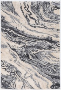 3.3' x 4.11' Ivory and Gray Genesis Madison Rug