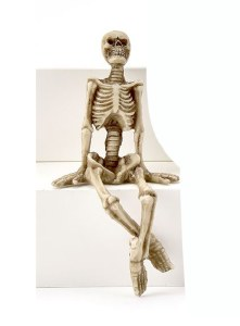 Skelton With Legs Crossed Shelf Sitter