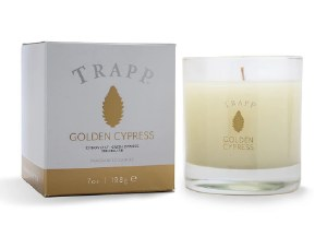 7 oz Golden Cypress Glass Candle
