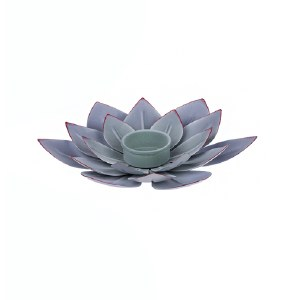 "8"" Round Purple Metal Succulent Tea Light Candle Holder"