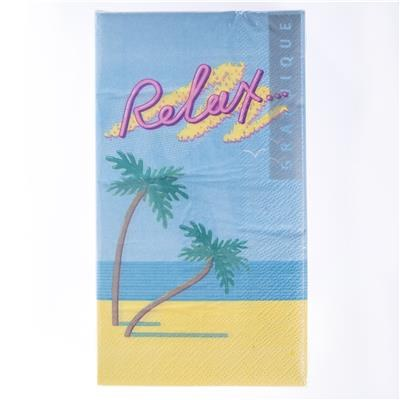 """5"""" Square Relax Palm Guest Towel"""
