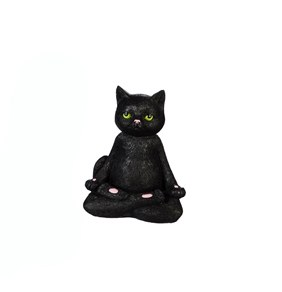 "6"" Lotus Yoga Black Cat"