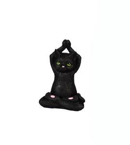 """6"""" Hands Up Yoga Black Cat"""
