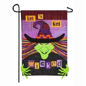 """12"""" x 18"""" Mini Witch Wicked Garden Flag"""