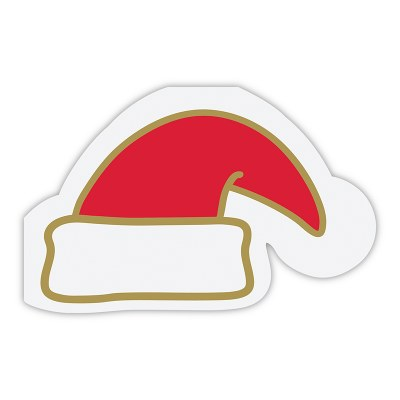Santa Hat Die Cut Beverage Napkin