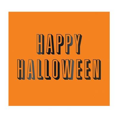 "5"" x 5"" Happy Halloween Beverage Napkin"