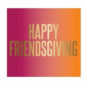 "5"" x 5"" Happy Friends Giving Beverage Napkin"