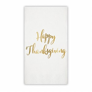 "8"" x 4.5"" Happy Thanksgiving Guest Towel"
