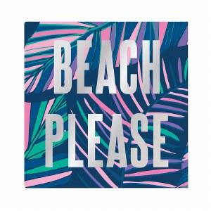 "5"" x 5' Beach Please Beverage Napkin"