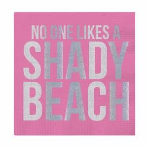 "5"" x 5"" Shady Beach Beverage Napkin"