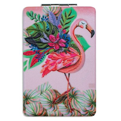 "4"" Flamingo Compact Mirror"