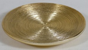 "4.5"" Round Gold Plate"