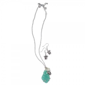 Necklace and Earring Baby Turtle Set