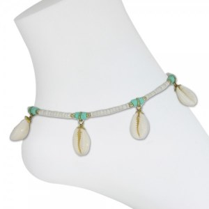 Ivory Conch Beads Anklet