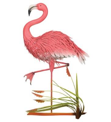 """37"""" Pink Flamingo Metal Plaque"""