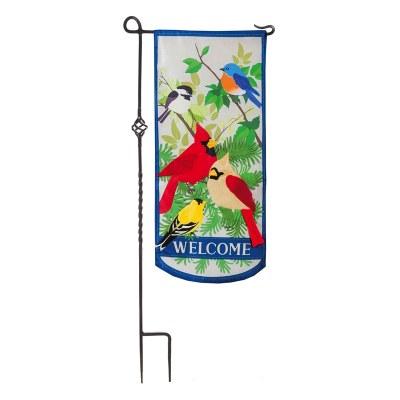 """12"""" x 28"""" Songbirds Welcome Garden Flag"""