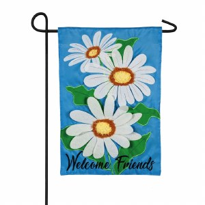 "12"" x 18"" Mini Welcome Friends Daisy Garden Flag"