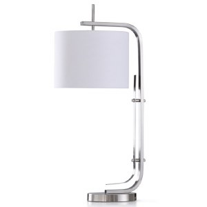 "32"" Silver ""C"" Table Lamp"