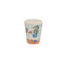 2 Oz Seahorse Ceramic Shot Glass