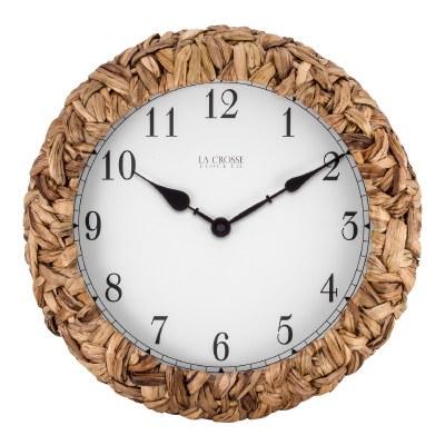 "14"" Round Palm Wrap Wall Clock"