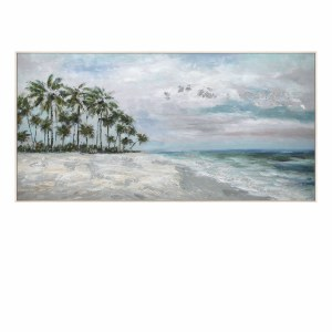 "30"" x 60"" Palm Island Framed Canvas"