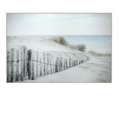"32"" x 48"" Beach Fence Framed Canvas"