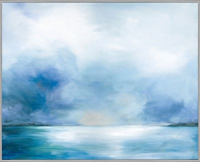 "50"" x 62"" Calming Waters Framed Canvas"