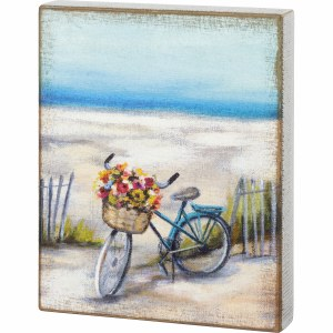 "12"" x 10"" Beach Bike Wooden Plaque"