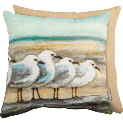 "15"" Square Seagulls Pillow"