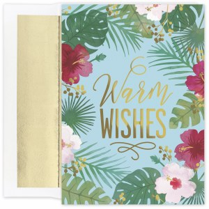 "Box of 18, 8"" x 6"" Hibiscus Wishes Cards"