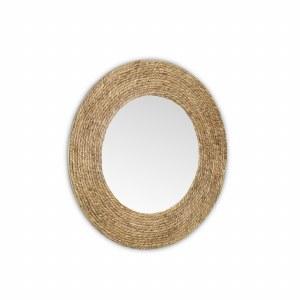 "31"" Round Natural Rope Mirror"