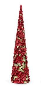 """18"""" Red Poinsettia Cone Tree"""