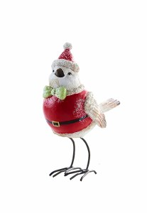 "5.5"" White and Red Bird With Red Hat"