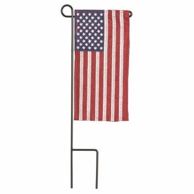 "9"" x 4"" American Flag Garden Flag With Pole"