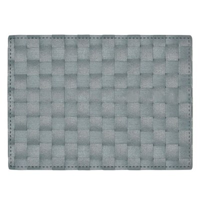 """13"""" x 18"""" Aqua Florence Woven Look Placemat"""